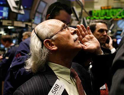 Händler an der Wall Street: Dow Jones auf Elfjahrestief