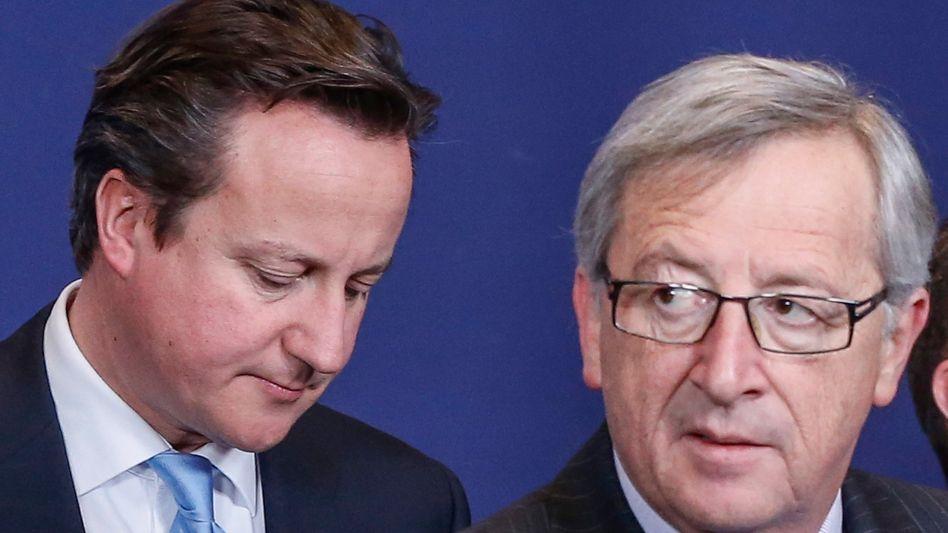 David Cameron, Jean-Claude Juncker (Archivbild): Juncker dürfte gegen den Widerstand der Briten zum neuen EU-Kommissionspräsidenten bestimmt werden
