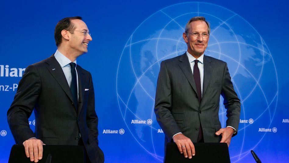 Der Chef und sein Nachfolger: Oliver Bäte (l.) wird Michael Diekmann (r.) am 6. Mai als Vorstandschef des Allianz-Konzerns ablösen und kündigt bis Jahresende eine eigene strategische Agenda an