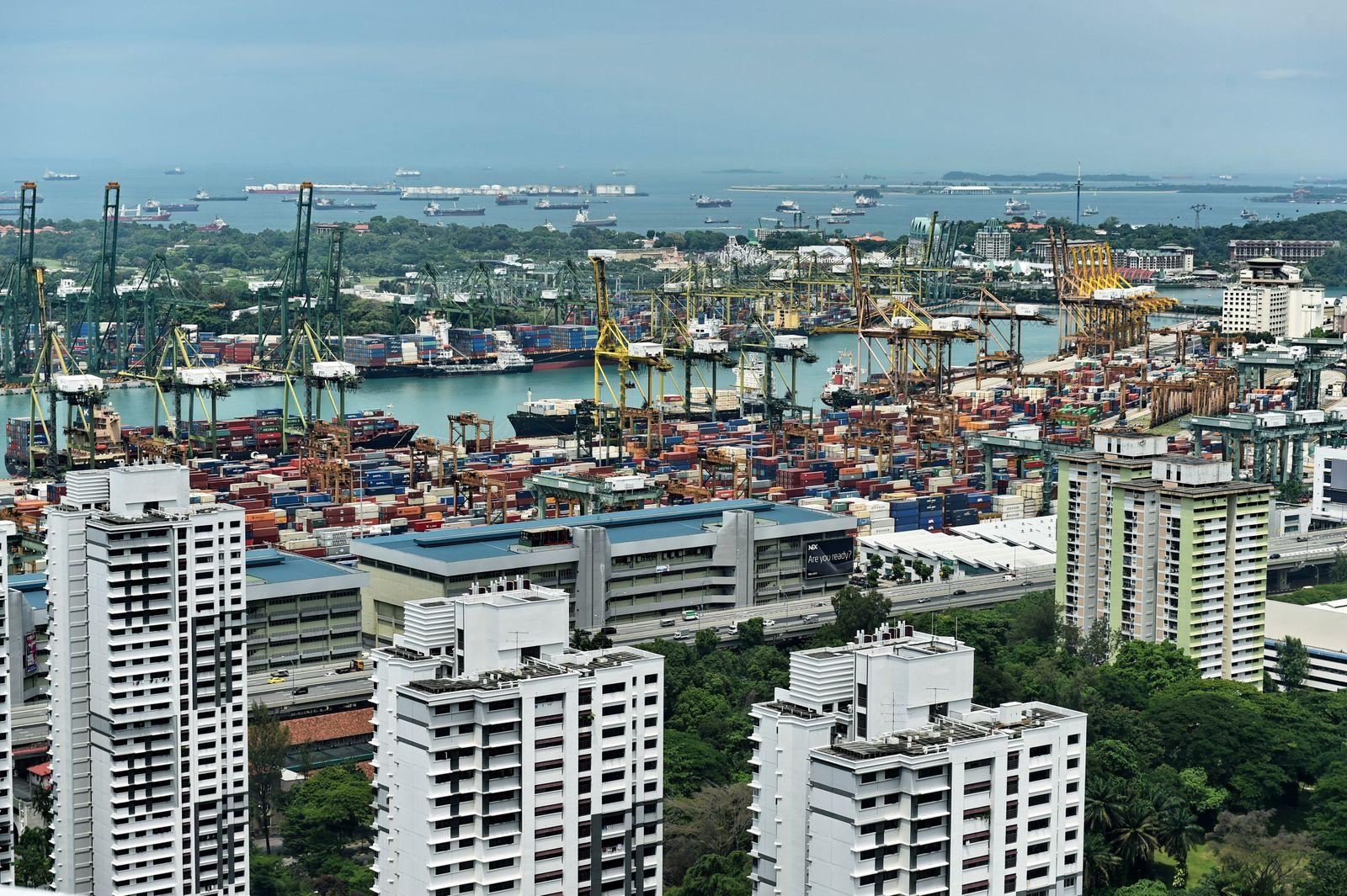 Singapur / Konjunktur / Export / Import / Handel / Wirtschaft / EU / Container
