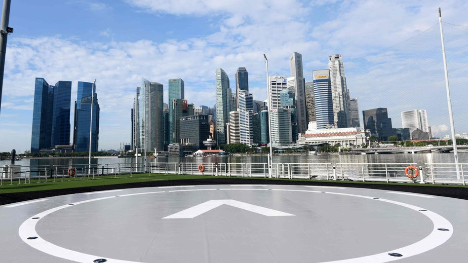 Voloport-Prototyp in Singapur: Hier sollen künftig elektrische Flugtaxen starten und landen