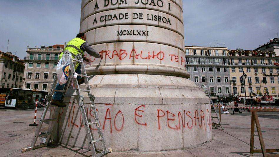 Wütende Bürger: In dem hoch verschuldeten Portugal herrscht hohe Arbeitslosigkeit