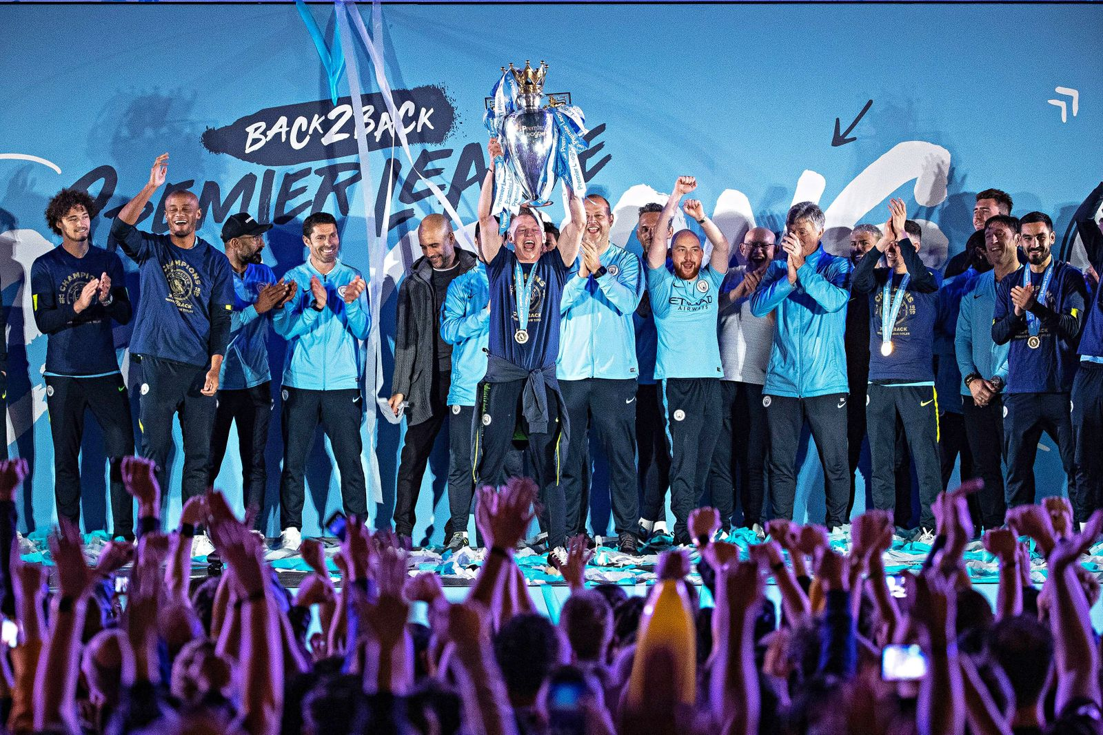 Fuflball Manchester City Meisterschaftsfeier May 12 2019 Manchester Greater Manchester UK Man