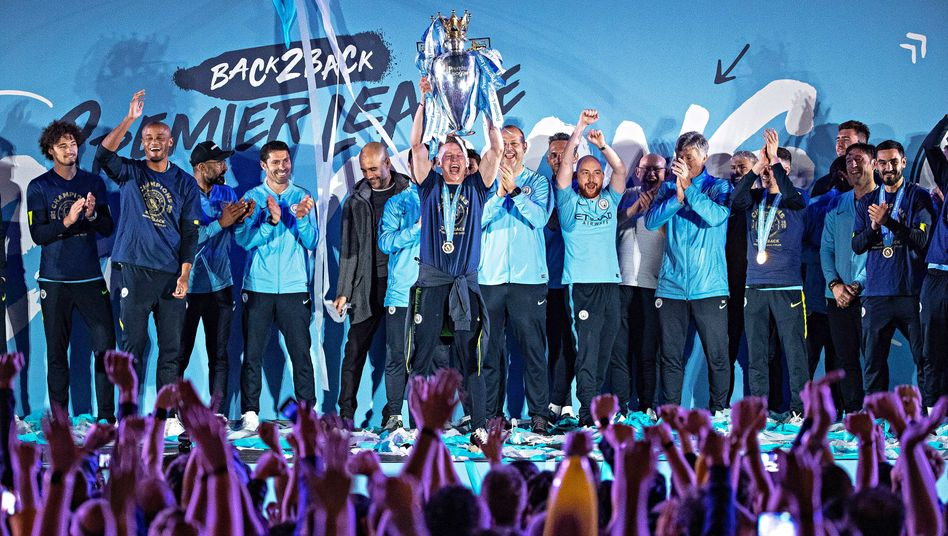 We are the Champions: Meisterfeier von Manchester City.