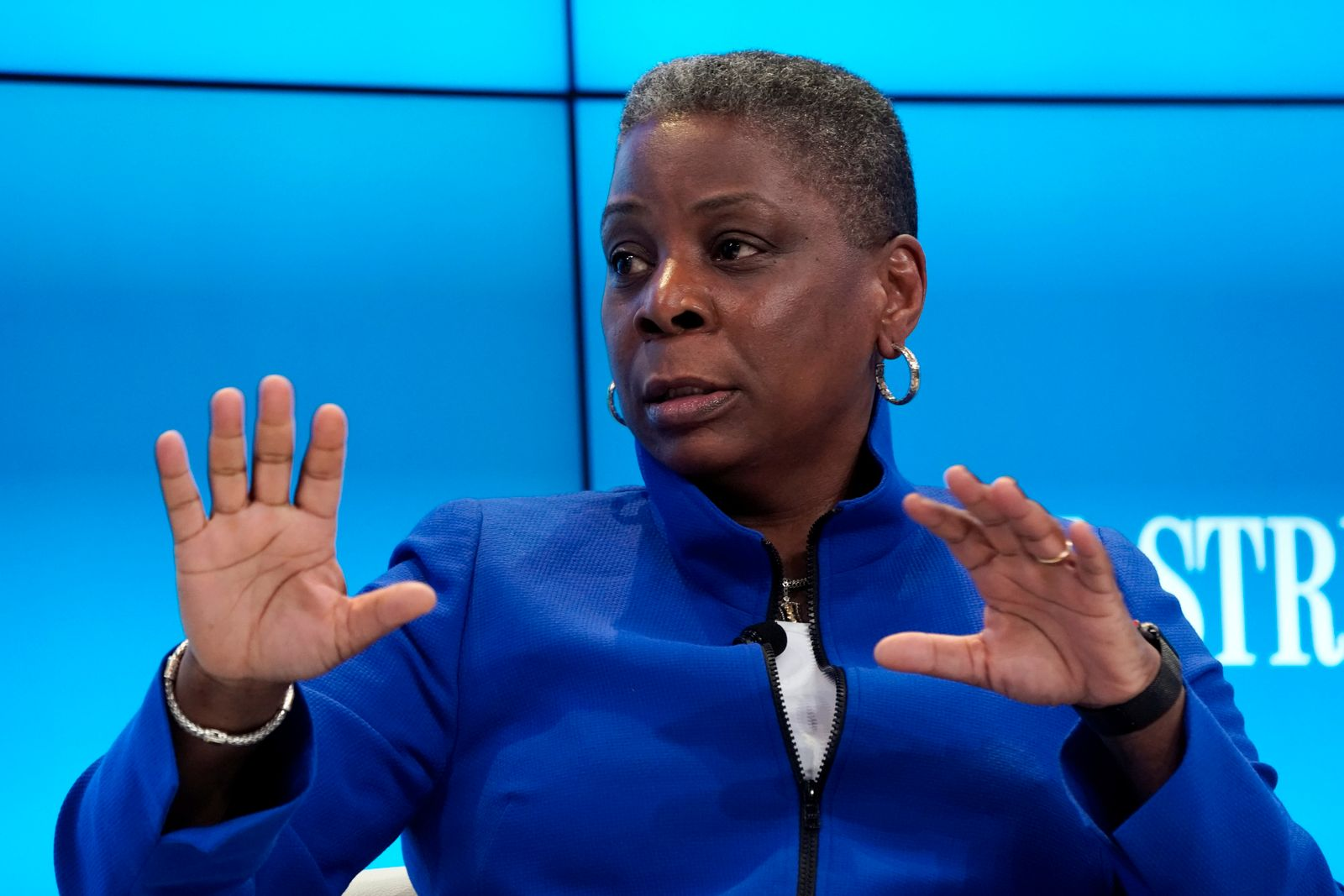 Ursula Burns, Chairman of the Supervisory Boar of VEON, attends the World Economic Forum (WEF) annual meeting in Davos