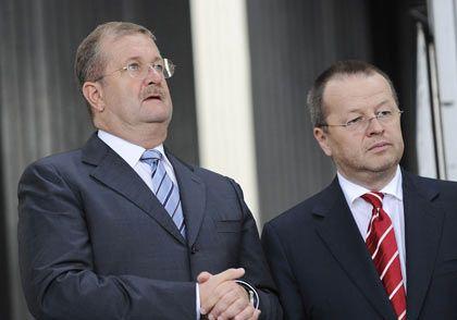Im Visier der Staatsanwaltschaft: Ex-Porsche-Chef Wiedeking (l.) und der ehemalige Finanzchef Härter
