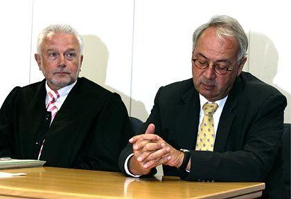 Lange hat es nicht gedauert: Kubicki und Gebauer bei der Güteverhandlung im Arbeitsgericht in Braunschweig