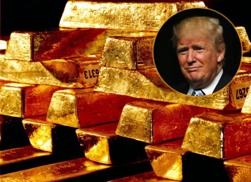 Goldbarren / Donald Trump