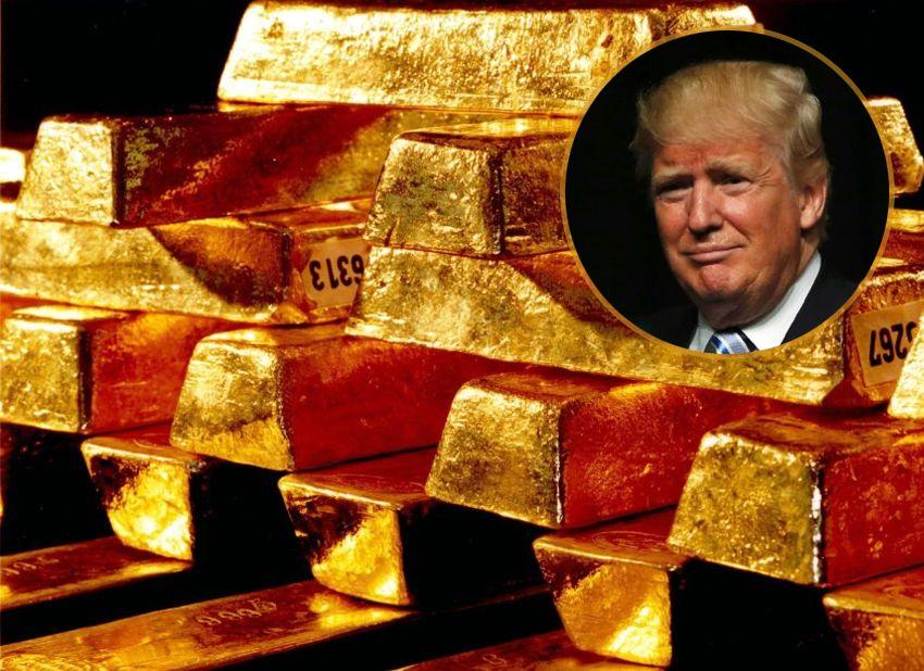 Goldbarren / Donald Trump