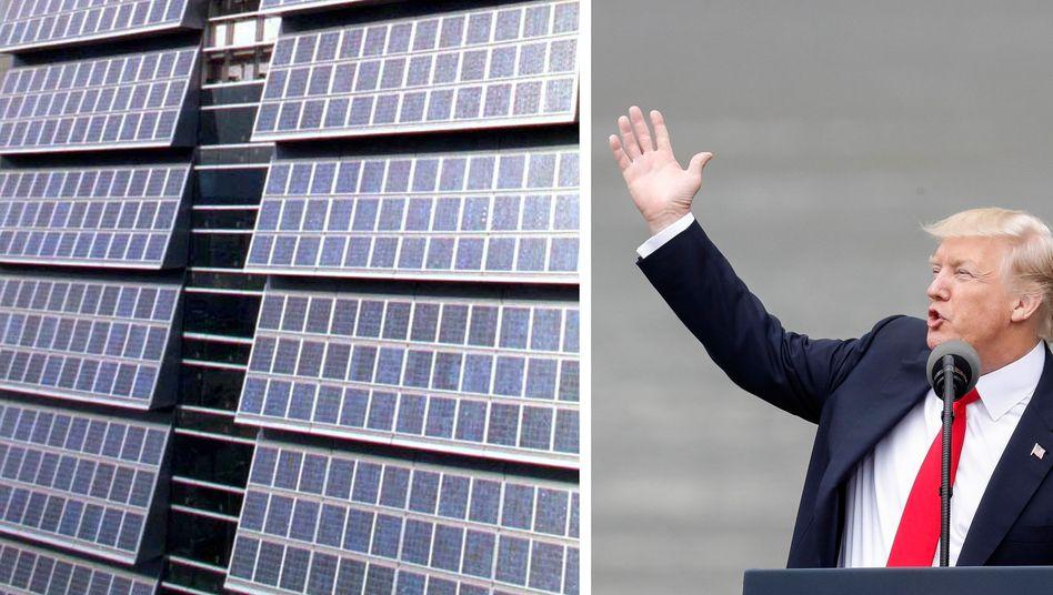 Menschenverachtende Rechnung zu einer Solarmauer: Donald Trump