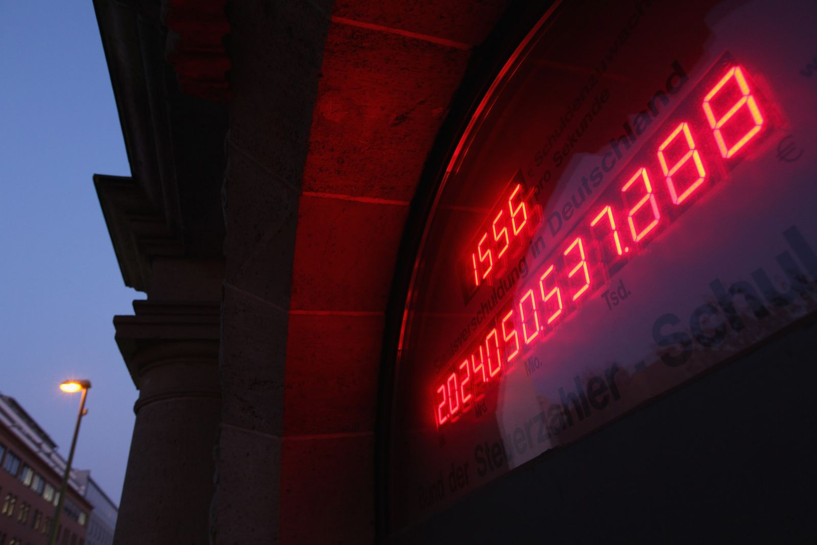 Deutsche Staatsverschuldung / Schuldenuhr am 21.11.11