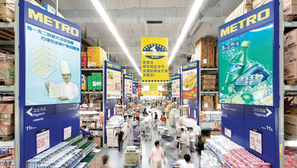 Metro-Markt in China (Bild Archiv: Der Handelsriese hat jetzt den Verkauf des Mehrheitsanteils des China-Geschäfts an die Wumei Technology Group abgeschlossen.