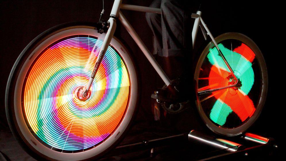 Neue Fahrrad-Gadgets: Schillernde Speichen-Show