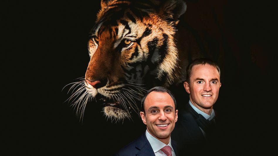 Der Name ist Programm: Scott Shleifer (l.) und Chase Coleman sind auf ihren Kaufzügen mit ihrem Fonds Tiger Global schneller als die Rivalen – und aggressiver
