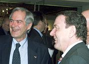 Gute Beziehungen: Roland Berger und Gerhard Schröder