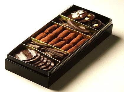 Zigarren, Stäbchen, Plättchen: Feinste Schokoladenmischung von Christian Constant