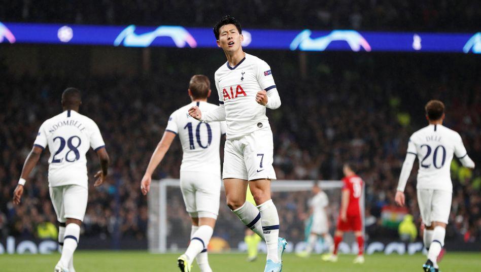 Liga in schwieriger Phase: Spieler der Tottenham Hotspurs bei der 2 zu 7 Niederlage gegen den FC Bayern in der Champions League am Dienstag dieser Woche.