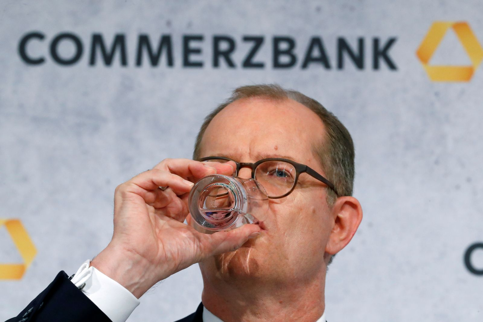 FILE PHOTO: Germany's Commerzbank AG hold their annual results press conference in Frankfurt
