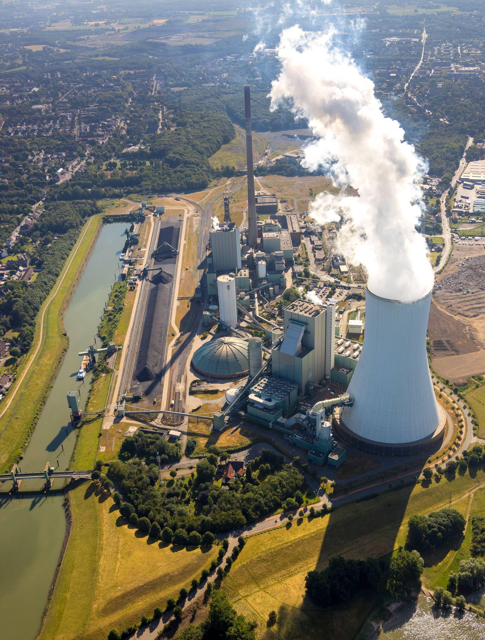 Luftbild vom Logistikstandort logport VI in Duisburg Walsum am Rhein auf der Brache einer ehemaligen