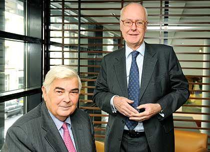 Französische Topbanker: Lucas (l.) und Pflimlin
