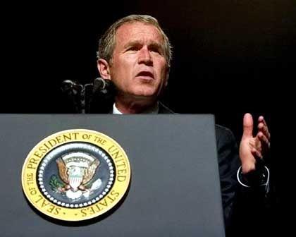 Präsident Bush gerät angesichts des Riesenlochs in der Staatskasse unter Druck.