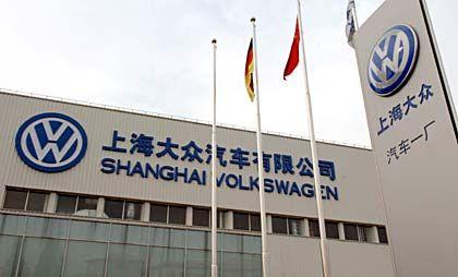 Zukunftsmarkt China: Volkswagen ist dort längst vertreten, wie zum Beispiel in Shanghai.