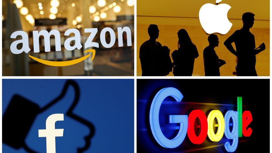 Steuertrickser: Die US-Konzerne Apple, Amazon, Facebook und Google verdienen viel Geld in Europa, zahlen aber kaum Steuern auf die hier erzielten Erlöse