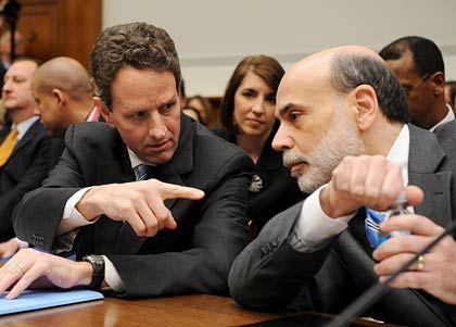 """Geithner, Bernanke: """"Außergewöhnlicher Job"""""""