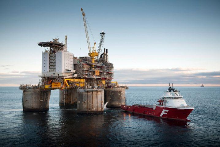 Ölplattform in Norwegen: Die Milliarden aus der Förderung landen im Staatsfonds des Landes, dem größten Fonds der Welt