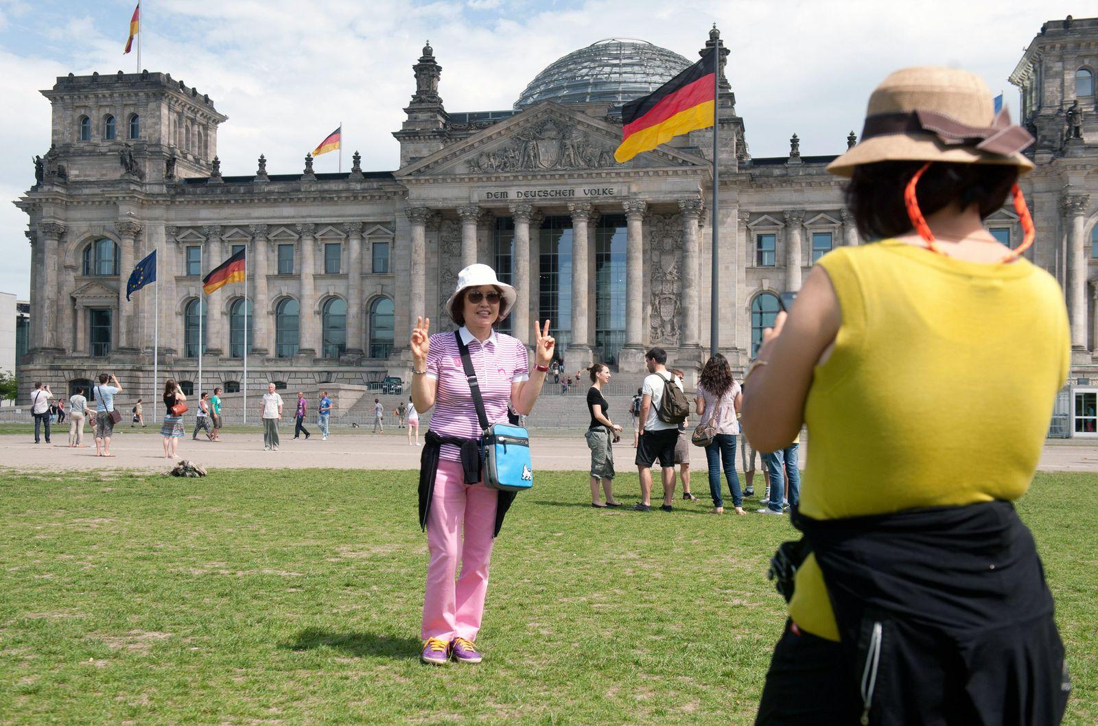 Sommer vor dem Reichstag