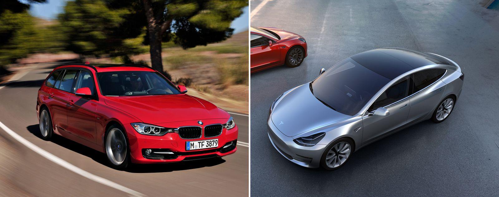 KOMBO BMW 3 / Tesla Model 3