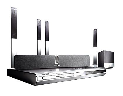 Philips-DVD-System: DVD-Player inklusive Receiver