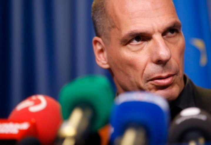 """Varoufakis auf seiner Pressekonferenz: """"Glaubwürdigkeit Europas dauerhaft beschädigt"""""""