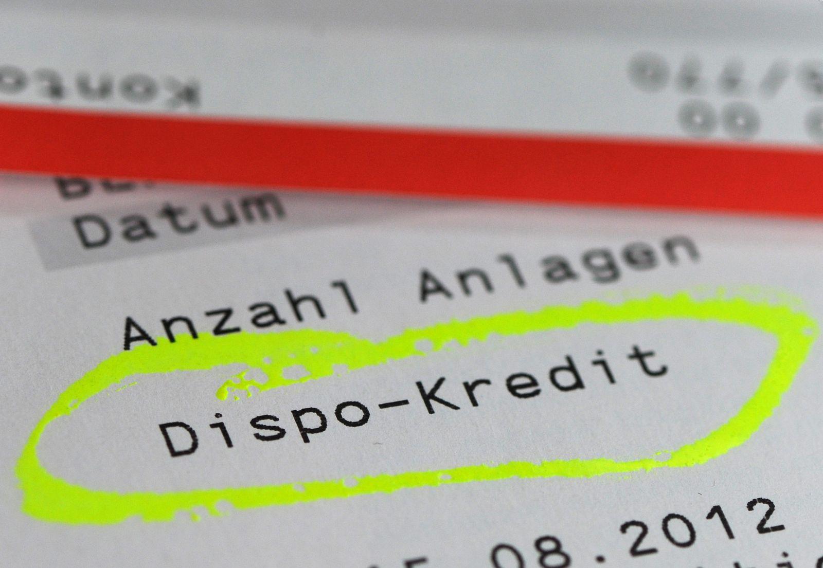Dispozinsen / Kontoauszug Dispo-Kredit