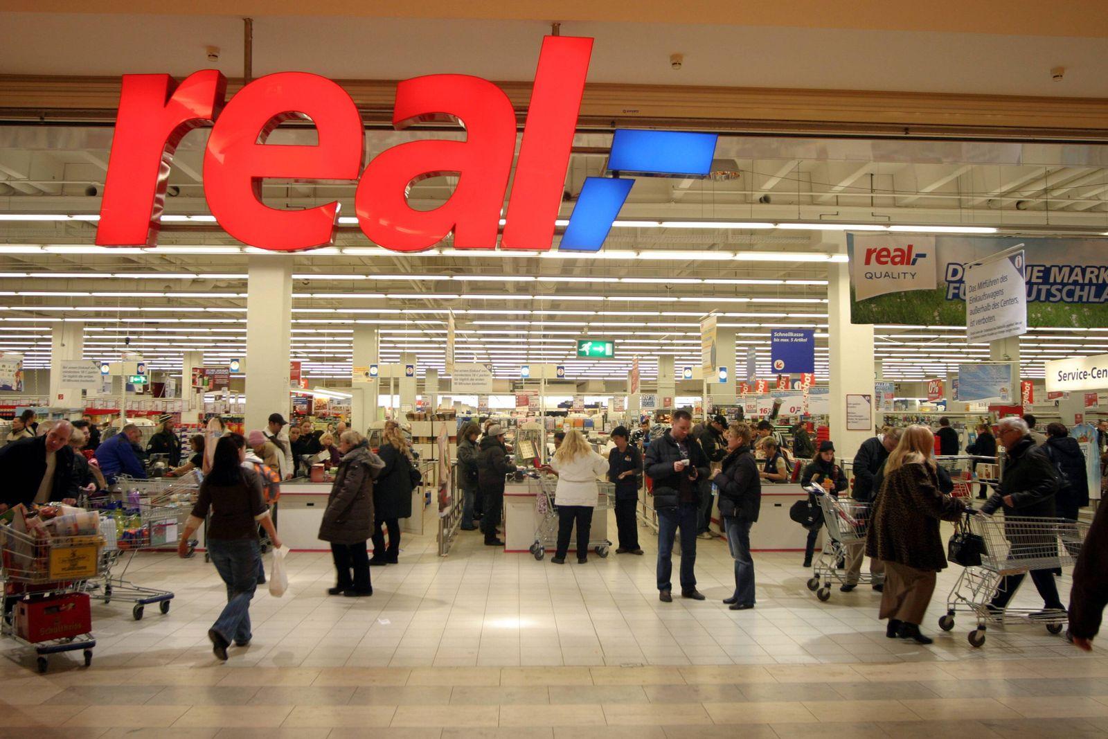 EINMALIGE VERWENDUNG Real / Supermarkt / Kasse