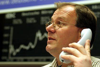 Händler in Frankfurt: Steigendes Zinsniveau