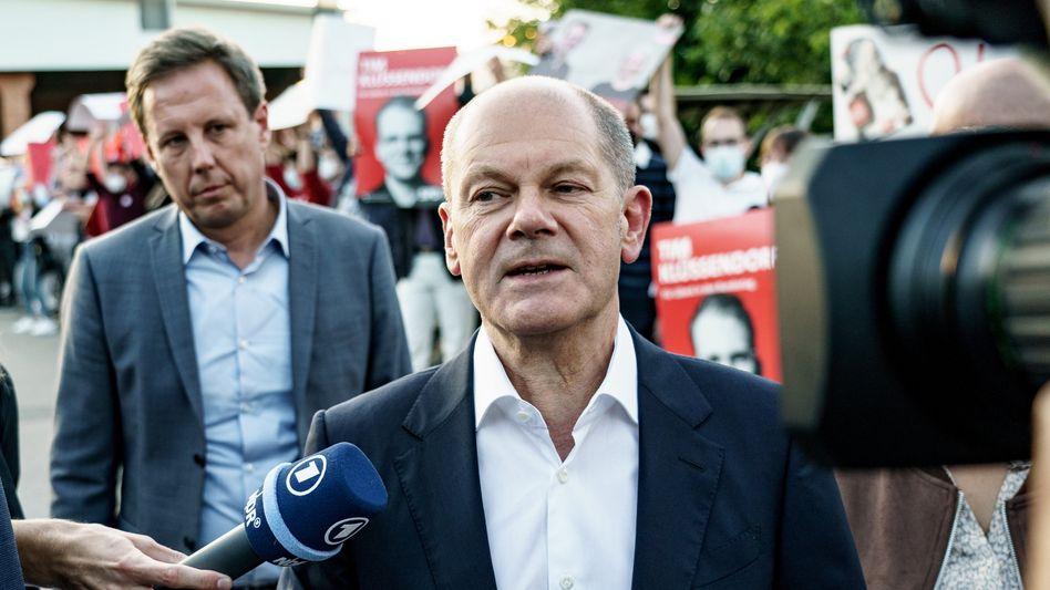 Unterwegs auf Wahlkampftour: Olaf Scholz