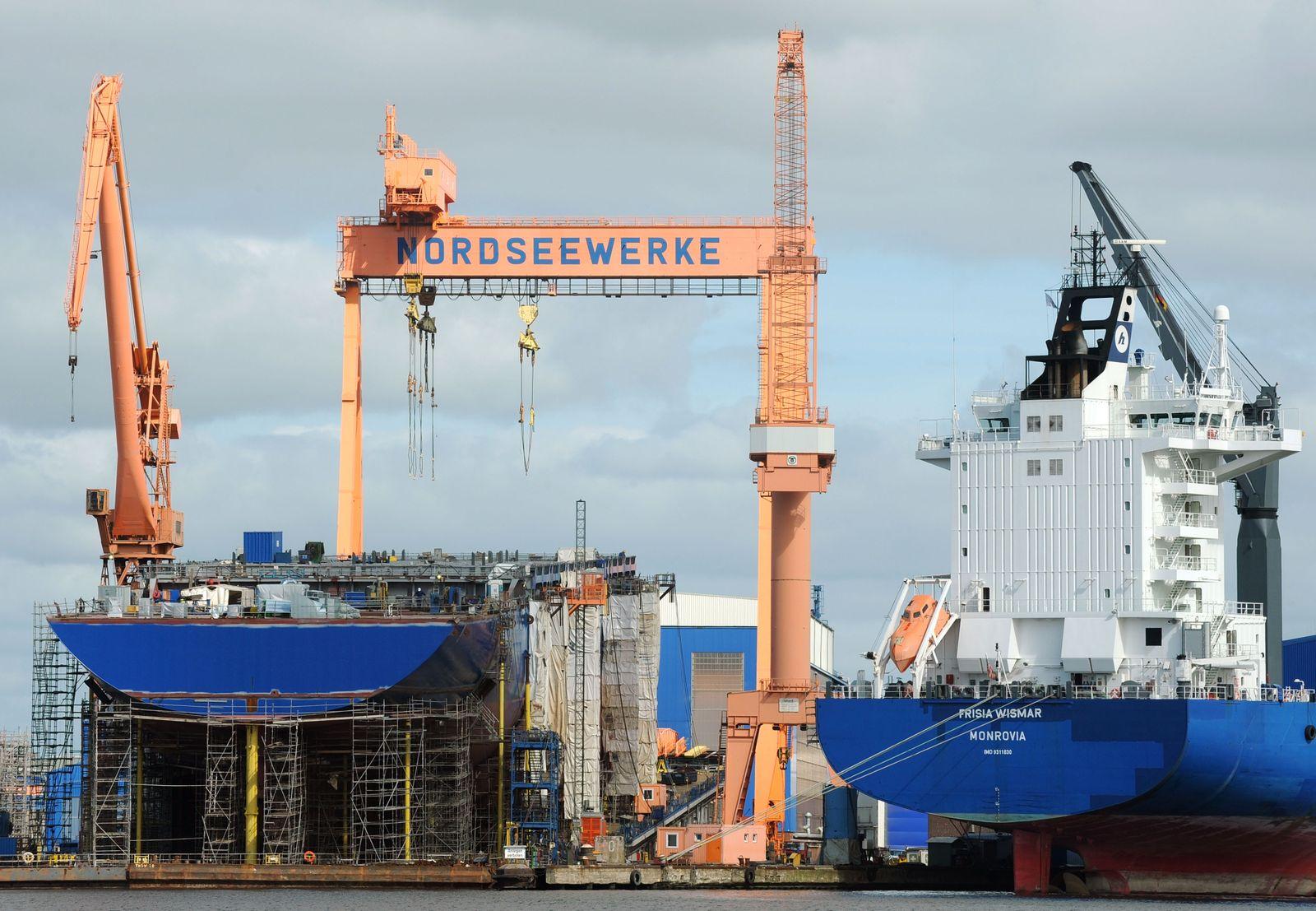 Werftaktionstag vor Nordseewerke Emden