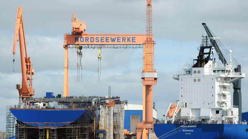 Schiffbau in Emden: Die Schifffahrtskrise belastet die deutsche Wirtschaft