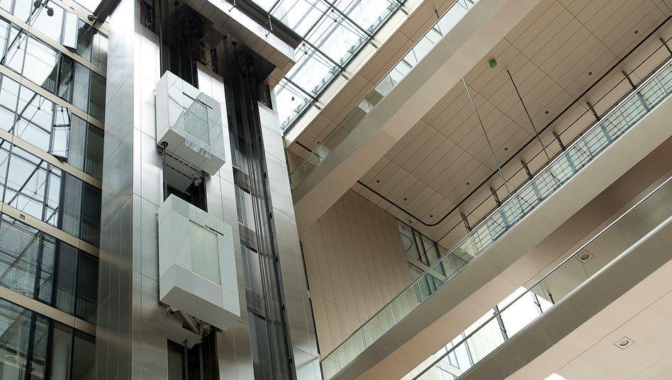 ThyssenKrupp-Aufzug in der Essener Konzern-Zentrale