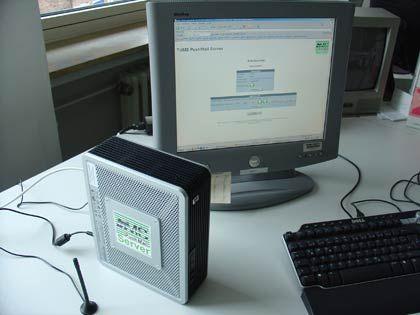 Einfaches Gerät: Der Trims Pushmail Server kommt ohne Schnickschnack aus, die Bedienmaske ist übersichtlich und funktional