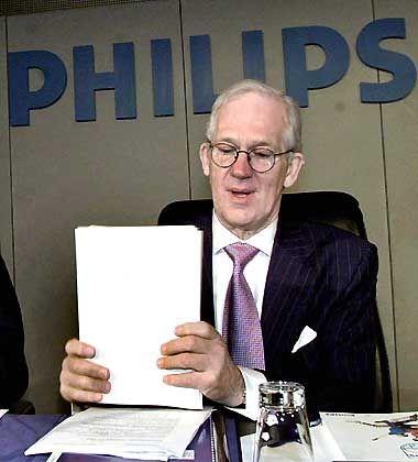 Verhaltene Bilanz: Philips-Chefs Gerard Kleisterlee sieht zumindest im operativen Geschäft wieder schwarze Zahlen