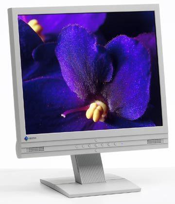 Eizo-Flachbildschirm L557: Steckt wie die meisten Monitore in langweiligem grauen Plastikgehäuse.