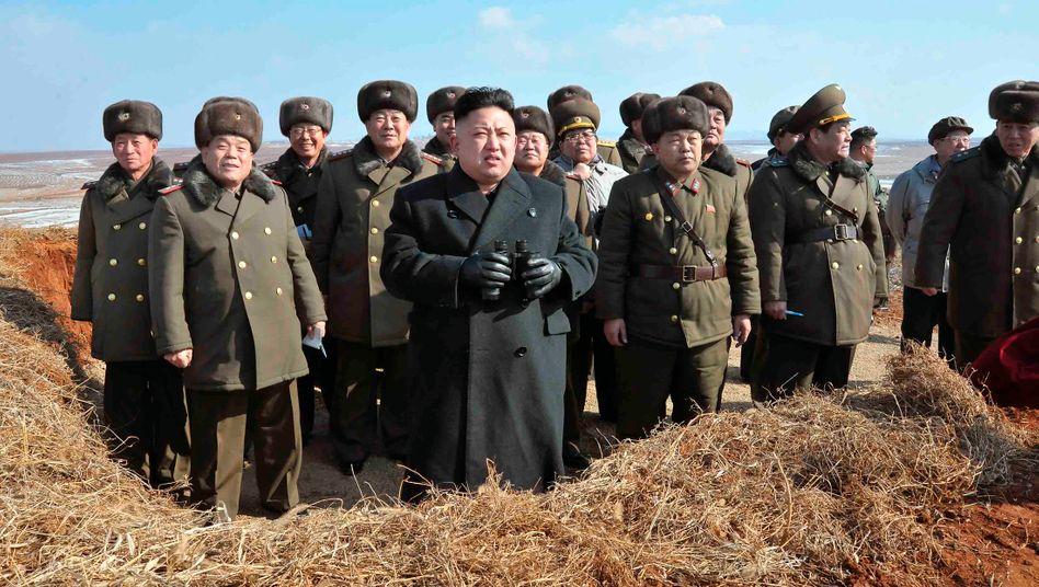 Nordkoreas Diktator Kim Jong-Un: Setzt die anti-amerikanische Politik seines verstorbenen Vaters unvermindert fort