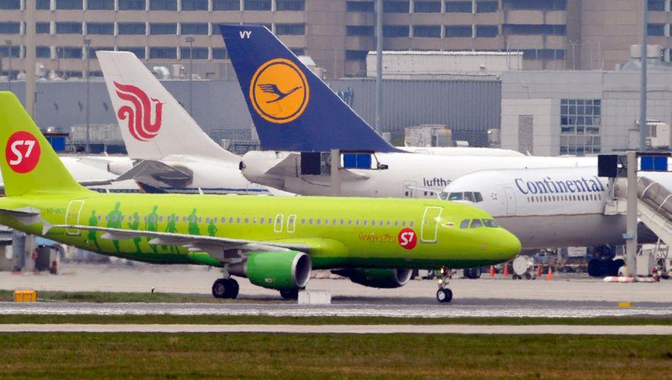 Dichtes Gedränge: Am Frankfurter Flughafen ist von Krise keine Rede mehr