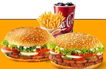 Weiter ein Dreamteam: Burger und Coke
