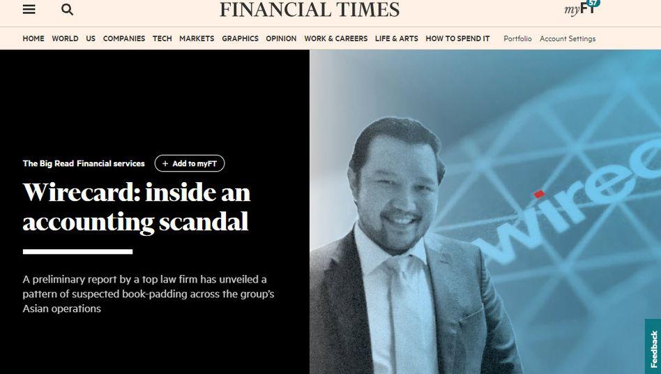 """Die seriöse Londoner Wirtschaftszeitung """"FT"""" lässt Wirecard nicht vom Haken, muss sich nun aber einer Klage erwehren"""
