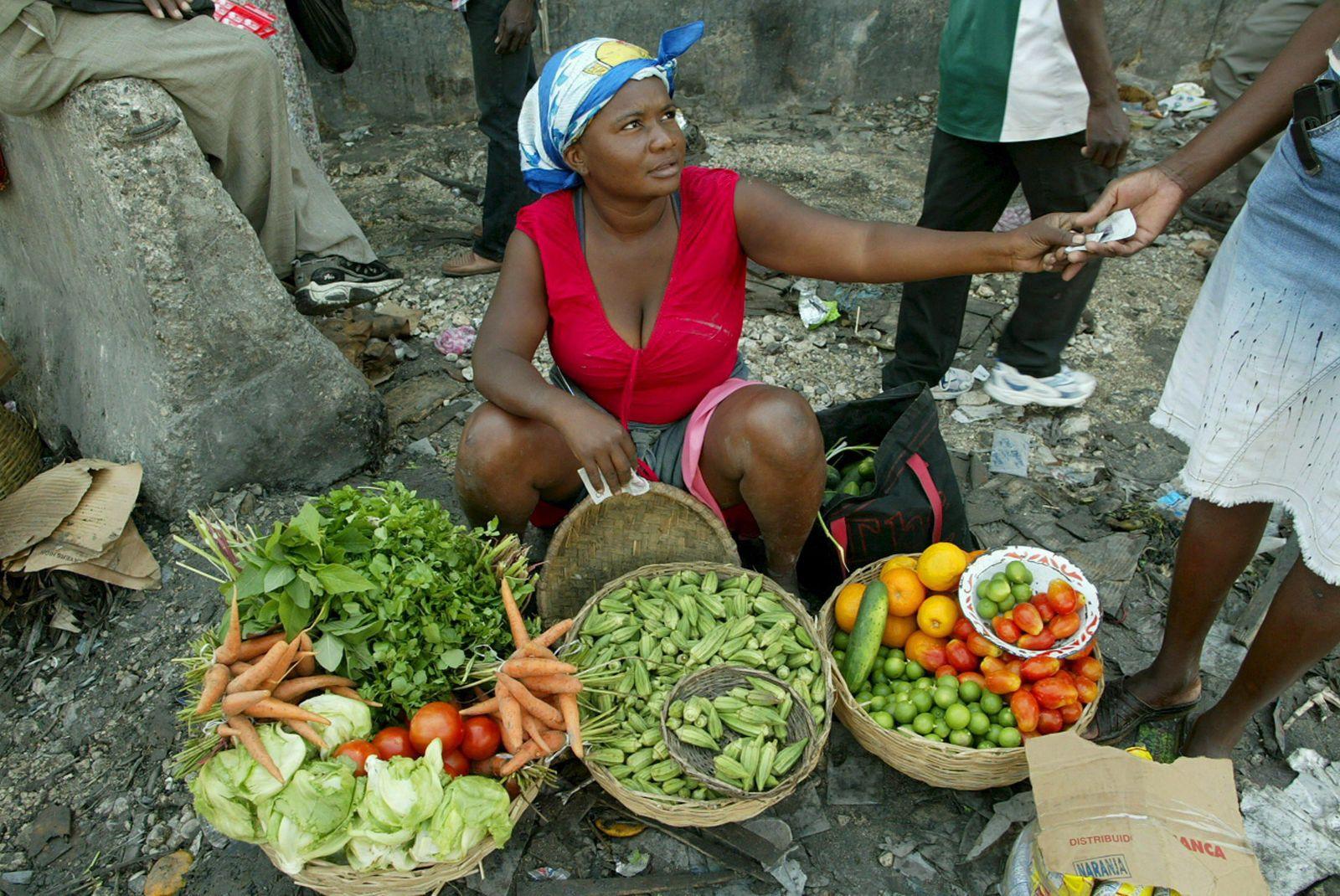 Illustration Hungerländer / Haiti / Ernährung / Nahrungsmittel / Lebensmittel
