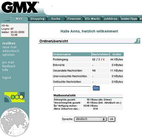 GMX-Mails unerwünscht: Der Münchener Internet-Dienstleister ist auf der schwarzen Liste der Spam-Schützer gelandet
