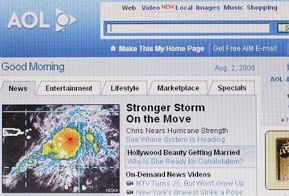 Kaum noch Kunden: Bei AOL brachen die Umsätze um 38 Prozent ein
